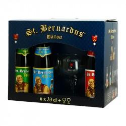 SAINT BERNARDUS Coffret Bières Belges 6X33 cl+ 2 Verres