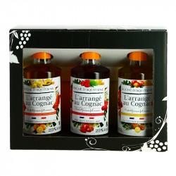Coffret Cognac Arrangé  3 x 20 cl Duché d'Aquitaine