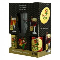 Coffret Bière Belge BRUGGSE ZOT 4 X 33 cl + 1 Verre
