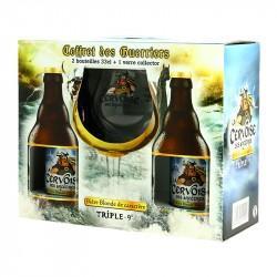 Coffret Bière CERVOISE des Ancêtres 2 x 33cl + 1 Verre