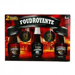 Coffret Bière FOUDROYANTE 3 x 37.5 cl + 2 Verres
