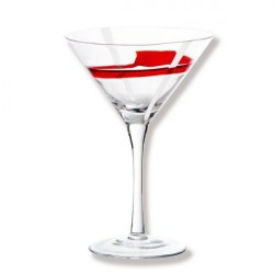 VERRE A COCKTAIL STUDIO ROUGE ET BLANC