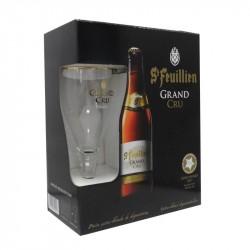 COFFRET Bière ST FEUILLIEN GRAND CRU 4X33 cl + 1 VERRES