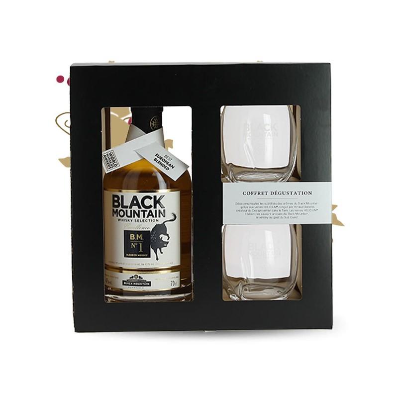 black mountain n 1 whisky du sud ouest coffret 2 verres. Black Bedroom Furniture Sets. Home Design Ideas