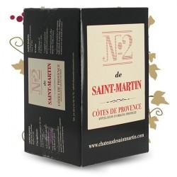 N°2 de SAINT MARTIN Côtes de Provence Rosé 5 Litres