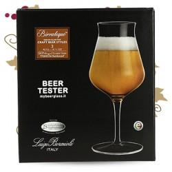 BIRRATEQUE Beeer Tester Verre à Bière LOT DE 2 VERRES 42CL