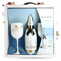 MOET & CHANDON ICE Coffret + 2 verres Champagne