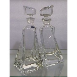 LOT DE 2 CARAFES LOVERS CRISTAL
