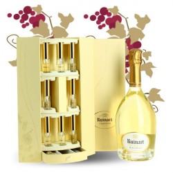 RUINART Champagne Brut Blanc de Blanc Coffret Interprétation 70 cl + 9 flacons