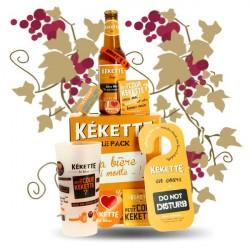 COFFRET Bière KEKETTE 4 X 25 cl + 1 Verres + GOODIES