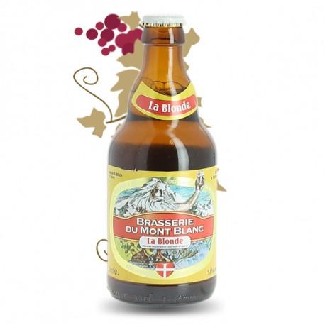 La Blonde Bière  Brasserie du Mont Blanc 33 cl