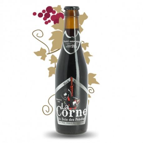 La CORNE du Bois des Pendus Black  Bière Brune Belge  33 cl