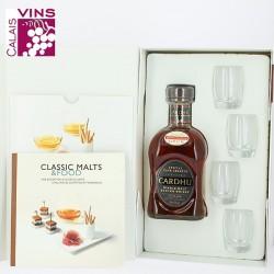 Coffret Whisky Cardhu Spécial Cask réserve+ 4 verres + livret de recettes