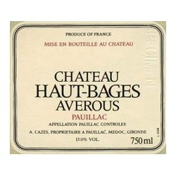 HAUT BAGES AVEROUS 1982 PAUILLAC