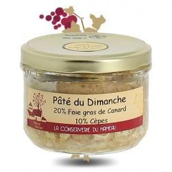 Pâté du Dimanche 20 % de Foie Gras & 10 % Cèpes  180 gr