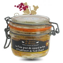"""Foie Gras de Canard entier """"Tradition"""" Sud Ouest 130 g Hameau des saveurs"""